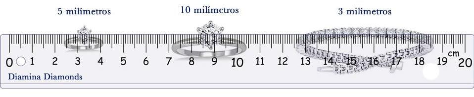como medir un diamante